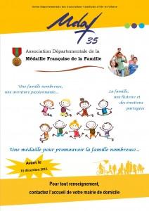Affiche Promotion Médaille 2016