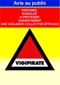 Affiche Public VIGIPIRATE